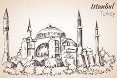 Museu de Istambul Hadia Sophia - Ayasofya Turquia esboço Fotografia de Stock Royalty Free
