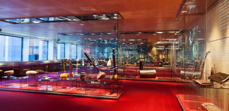 Museu de la Musica de巴塞罗那内部  库存图片
