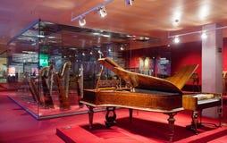 Museu de la Musica de巴塞罗那内部。西班牙 免版税图库摄影
