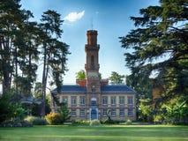 Museu de Massey e jardim público em Tarbes França fotografia de stock royalty free