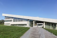 Museu de Moesgaard perto de Aarhus em Dinamarca Imagem de Stock