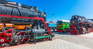 Museu de Novosibirsk do equipamento de estrada de ferro n A Akulinin novosibirsk foto de stock