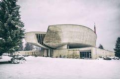 Museu de SNP em Banska Bystrica, Eslováquia, filtro análogo imagens de stock royalty free