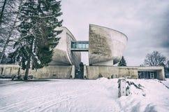 Museu de SNP em Banska Bystrica, Eslováquia, filtro análogo fotos de stock