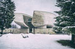 Museu de SNP em Banska Bystrica, filtro análogo imagem de stock royalty free