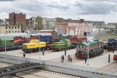 03 05 Museu 2019 de St Petersburg do transporte de R?ssia Exposi??o de locomotivas de estrada de ferro do s?culo XIX fotografia de stock royalty free