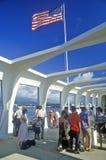 Museu de USS o Arizona no Pearl Harbor, Oahu, Havaí fotografia de stock royalty free