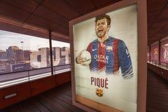 Museu de visita do FC Barcelona imagens de stock royalty free