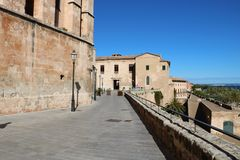 Museu Diocesa in Palma de Mallorca. Spain. This small museum of religious and historical antefacts is based in a wing of the former 13th century episcopal royalty free stock image