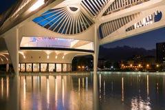 Museu do amanhã em Rio de janeiro na noite Fotos de Stock Royalty Free