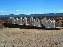 Museu do ar livre de Goldwell, o Vale da Morte Imagens de Stock