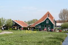 Museu do ar livre o Zaanse Schans Fotos de Stock Royalty Free