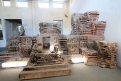 Museu do Da Nang de Vietname da escultura do homem poderoso imagens de stock royalty free