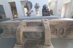 Museu do Da Nang de Vietname da escultura do homem poderoso imagens de stock