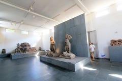 Museu do Da Nang de Vietname da escultura do homem poderoso imagem de stock
