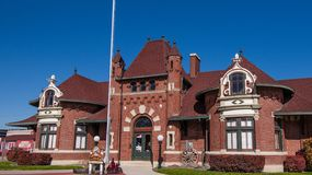 Museu do depósito de trem de Nampa foto de stock royalty free