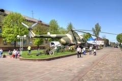 Museu do equipamento militar Cidade de Sovetsk, região de Kaliningrad Imagem de Stock
