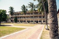 Museu do genocídio em Phnom Penh Foto de Stock