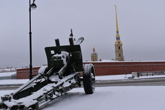 Museu do inverno da arma de St Petersburg Imagens de Stock Royalty Free