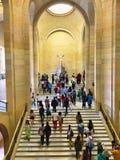 Museu do Louvre o Escalier Daru Fotografia de Stock Royalty Free