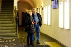 Museu do lugar de nascimento do ` s de Mozart dentro da vista Fotos de Stock Royalty Free