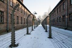 Museu do museu do memorial do holocausto anniversary Cerca com arame farpado dentro de um campo de concentração imagens de stock royalty free