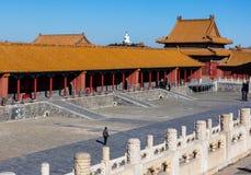 Museu do pal?cio do Pequim, China fotografia de stock