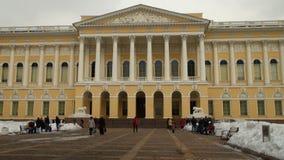 Museu do russo do estado em St Petersburg video estoque