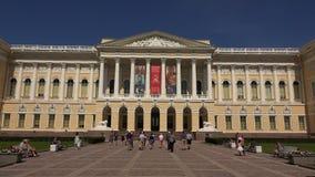 Museu do russo do estado em St Petersburg 4K vídeos de arquivo