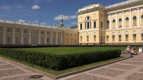 Museu do russo do estado em St Petersburg 4K video estoque