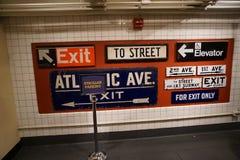 Museu 75 do trânsito de New York imagens de stock