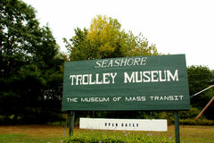 Museu do trole do litoral fotos de stock