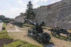 Museu dos armamentos no ar livre na fortaleza de Belgrado, Sérvia Imagem de Stock