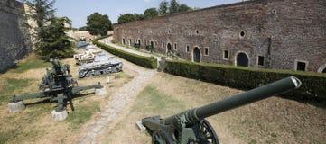 Museu dos armamentos no ar livre na fortaleza de Belgrado, Sérvia Foto de Stock Royalty Free