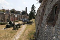 Museu dos armamentos no ar livre na fortaleza de Belgrado, Sérvia Fotos de Stock