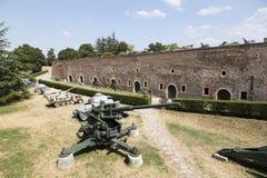 Museu dos armamentos no ar livre na fortaleza de Belgrado, Sérvia Foto de Stock