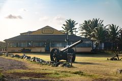 Museu dos Tubarões鲨鱼博物馆-费尔南多・迪诺罗尼亚群岛, Pernam 图库摄影