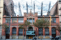 Museu Fundació Antoni Tapie, Barcelona. The Museum Fundacio Antoni Tapies has been settled in the Montaner i Simon Publishing House and has been built in the royalty free stock photo