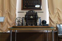 Museu histórico do rádio Popov em Kronstadt 17 de março de 2019 St Petersburg, Kronstadt Rússia interior e exibições imagem de stock