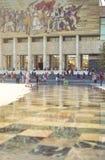 Museu histórico em Tirana Mosaico famoso do socialismo Foto de Stock