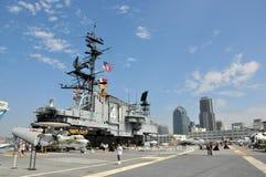 Museu intermediário de San Diego USS fotografia de stock