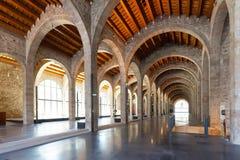 Museu Maritim de巴塞罗那内部  免版税库存照片