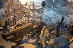 Museu militar no Hohensalzburg foto de stock