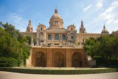 Museu Nacional d'Art DE Catalunya stock afbeeldingen