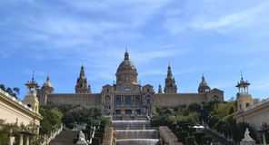 Museu Nacional D ` Art de Catalunya, Barcelona, Spanje stock afbeeldingen