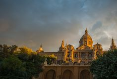 Museum in Barcelona Stock Foto