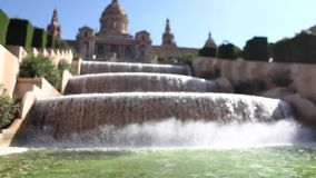 Museu Nacional d'Art de Catalunya fountain Royalty Free Stock Image