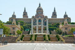 Museu Nacional d'Art de Catalunya on July 29, 2012 in Barcelona. Royalty Free Stock Photo