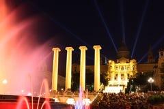 Museu Nacional d'Art de Catalunya and Magic Fountain, Barcelona Stock Images