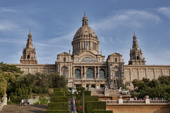 Museu Nacional d`Art de Catalunya - museum is a must-see for art. BARCELONA, SPAIN - JULY 13, 2013: Museu Nacional d`Art de Catalunya - museum is a must-see for royalty free stock image